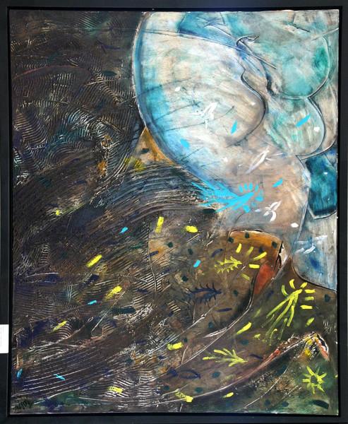 Landschaft, Wind, Malerei, Sturm, Abstrakt
