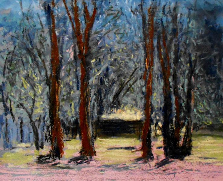 Baum, Grün, Frühling, Malerei, Langsam