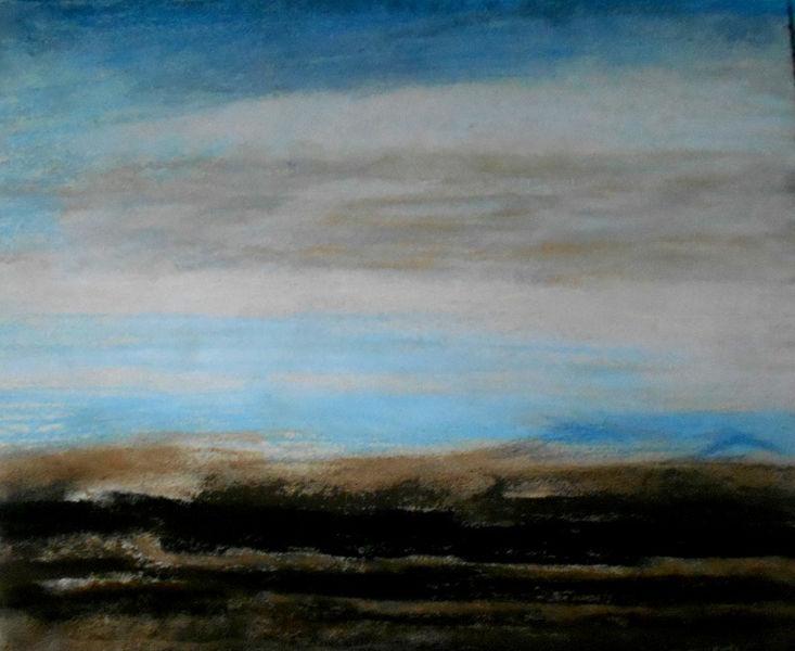 Himmel, Leere, Abstrakt, Landschaft, Malerei