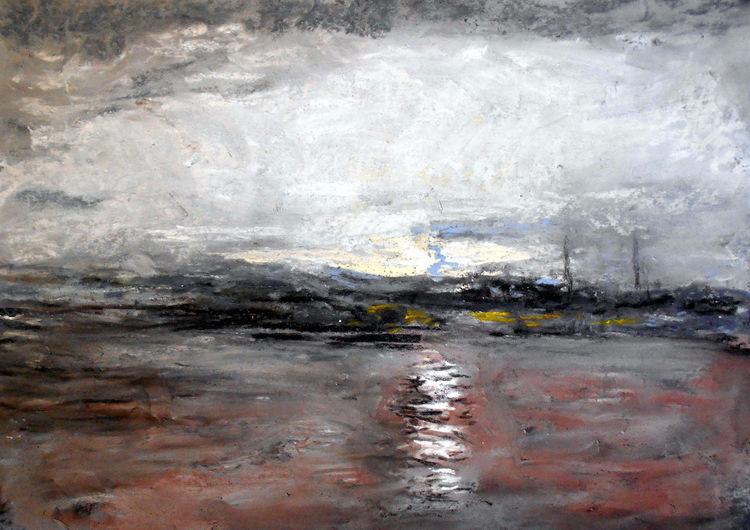 Himmel, Wasser, Licht, Landschaft, Dunkel, Malerei