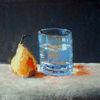 Stillleben, Glas, Wasser, Birne