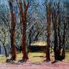 Baum, Grün, Frühling, Malerei