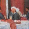 Menschen, Tisch, Gasthaus, Malerei
