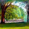 Park, Menschen, Baum, Grün