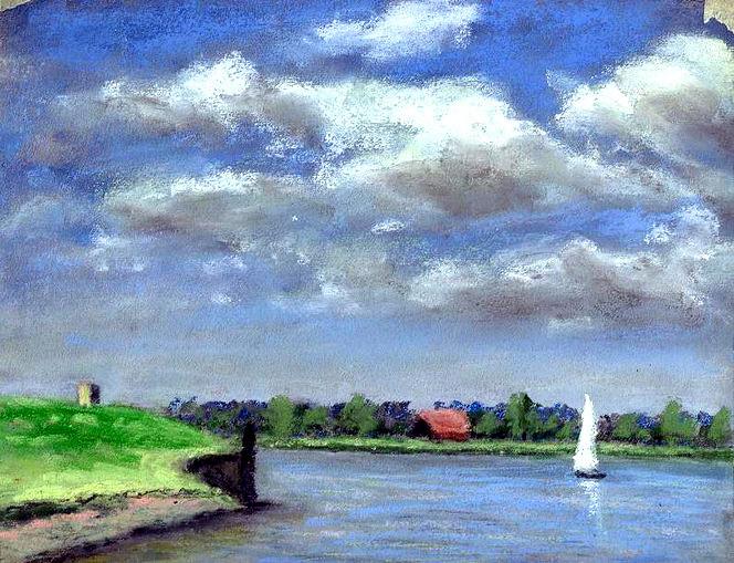 See, Segelboot, Himmel, Malerei, Meer