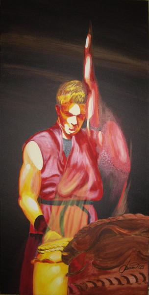 Person, Taiko, Trommel, Malerei, Figural, Rhythmus