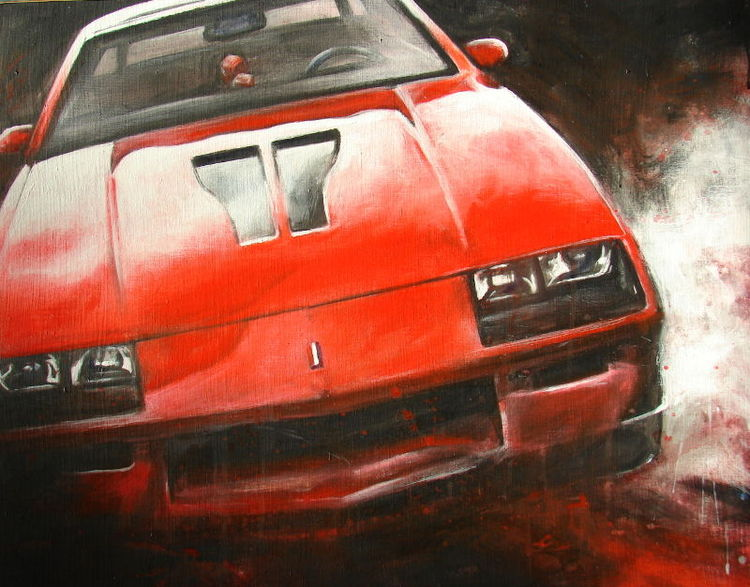 Rallye, Racecar, Rot, Auto, Rennwagen, Autozeichnung