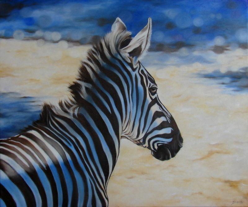 bild zebra pferd streifen stripes von diana f rch bei kunstnet. Black Bedroom Furniture Sets. Home Design Ideas