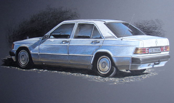 Weiß, Auto, Rücklicht, Mercedes, Taillights, Baby