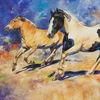 Pferde, Tinker, Fjordpferd, Malerei