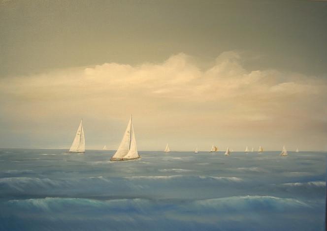 Realismus, Welle, Landschaft, Sport, Blau, Meer