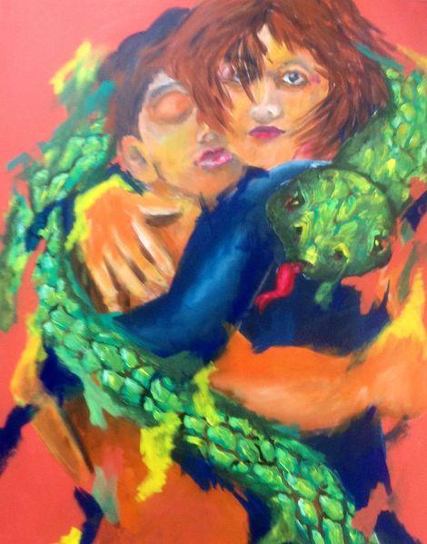 Schlange, Liebe, Malerei