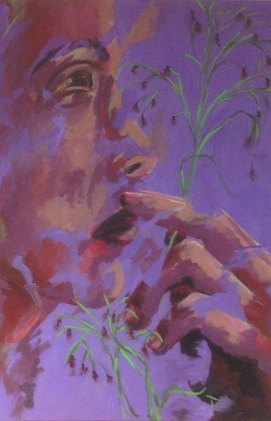 Menschen, Pflanzen, Malerei, Nachdenklich