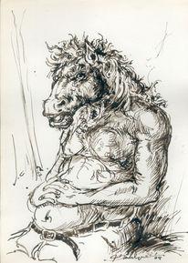Figur, Mythe, Pferde, Allegorie