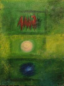 Grün, Ölmalerei, Malerei, Bewegung