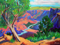 Plein air, Grand canyon, Landschaftsmalerei, Pastellmalerei