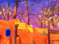 Stadt, Santa fe, Landschaft, Malerei