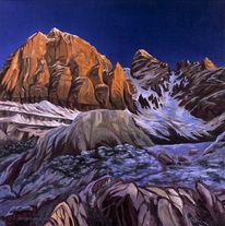 Ölmalerei, Bergbilder, Landschaftsmalerei, Malerei