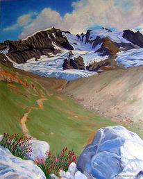 Landschaftsmalerei, Ölmalerei, Bergbilder, Malerei