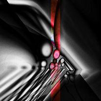 Monochrom, Schwarz, Rot schwarz, Abstrakt