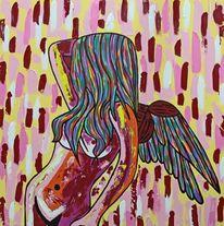 Abstrakt, Streifen, Gemälde, Hoffnung