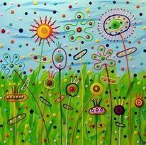 Umwelt, Gemälde, Menschen, Abstrakt