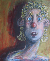 Mädchen, Clown, Staunen, Frau