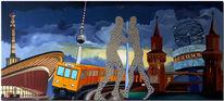Collage, Siegessäule, U bahn, Kongresshalle