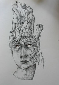 Schmerz axt, Kopf, Wurzel, Grafik