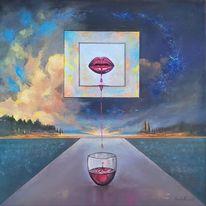 Acrylmalerei, Münchner, Abstrakt, Surrealistisch