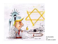 Brandstifter, Freiheitsstatue, Präsident, Klagemauer