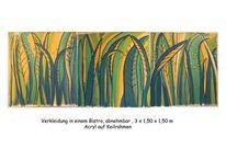 Blätter, Wandmalerei, Wald, Bistro
