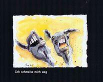 Tiere, Humor, Karikatur, Esel