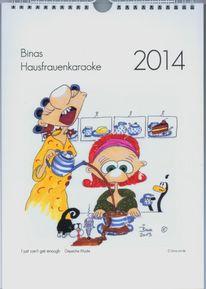 2014, Hausfrauenkaraoke, Kalender, Titelblatt2014