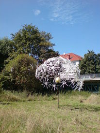 Schirm, Skulpturenweg, Installation, Linnich