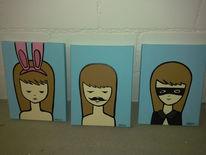 Malerei, Menschen, Mädchen