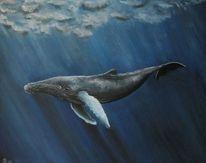 Einsamkeit, Buckelwal, Riese, Meer