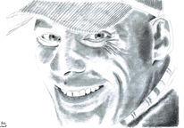 Bleistiftzeichnung, Zeichnung, Gesicht, Portrait
