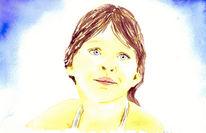 Aquarellmalerei, Zeichnung, Portrait, Realismus