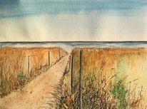 Sommer, Aquarellmalerei, Malters, Strand