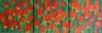 Blumen, Malters, Acrylmalerei, Frühling