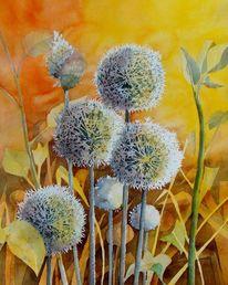 Blumen, Aquarellmalerei, Pflanzen, Malters