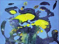 Kopf, Gelb, Wasser, Unterwasserlandschaft