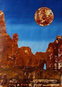 Berge, Surrealistisch, Landschaft, Heinz sterzenbach