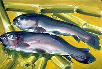 Zwei Fische auf Bambus 3