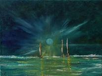 Gischt, Vikinger, Licht, Abendstimmung