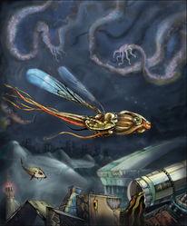 Fiktion, Fisch, Cyberpunk, Dunkel