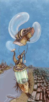 Traum, Wanderer, Cyberpunk, Fliegen