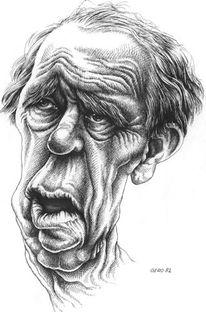 Portrait, Boell, Zeichnen, Karikatur
