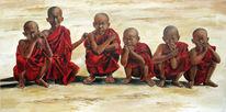 Bagan, Birma, Rot, Mönch